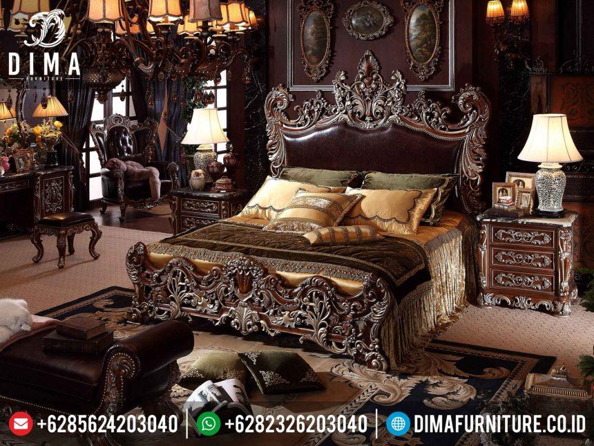 Set Tempat Tidur Mewah, Kamar Set Jepara Terbaru, Dipan Mewah Klasik ST-0329