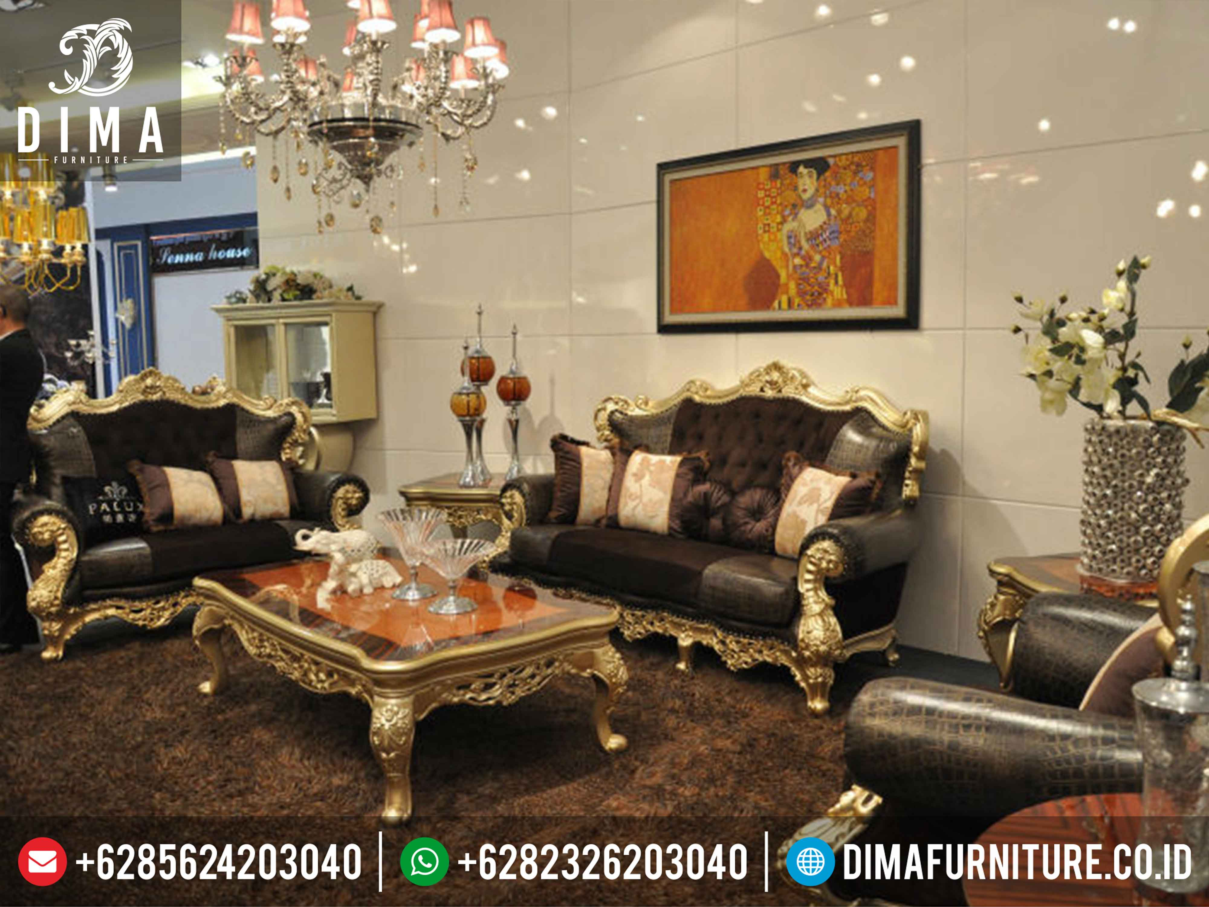 Sofa Ruang Tamu Mewah Gaya Eropa Italian Mebel Jepara Terbaru ST-0333