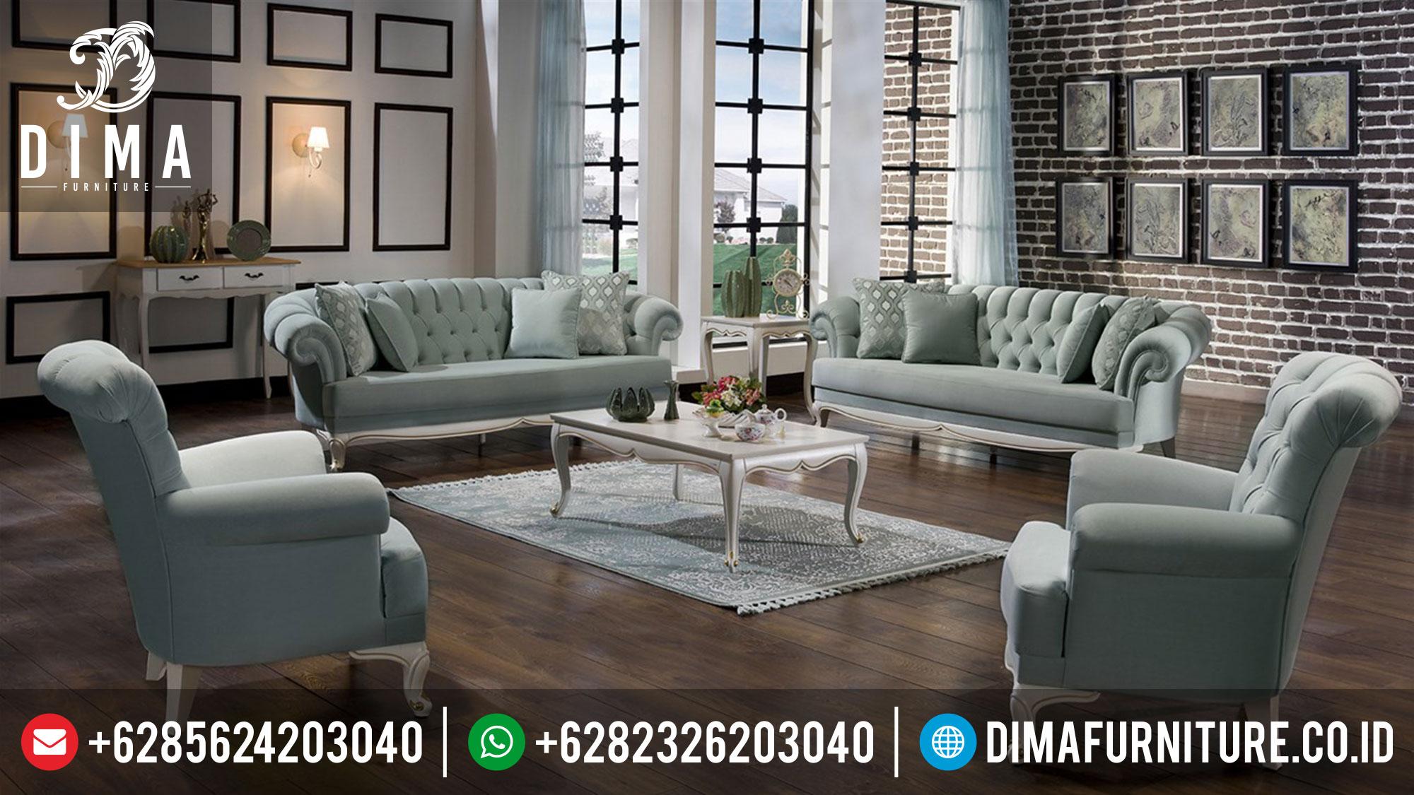 Jual 1 Set Sofa Tamu Minimalis Mewah Terbaru Jepara Lisbon ST-0380 Gambar 1