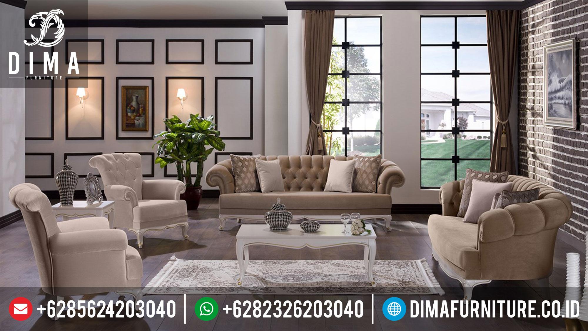 Jual 1 Set Sofa Tamu Minimalis Mewah Terbaru Jepara Lisbon ST-0380 Gambar 2