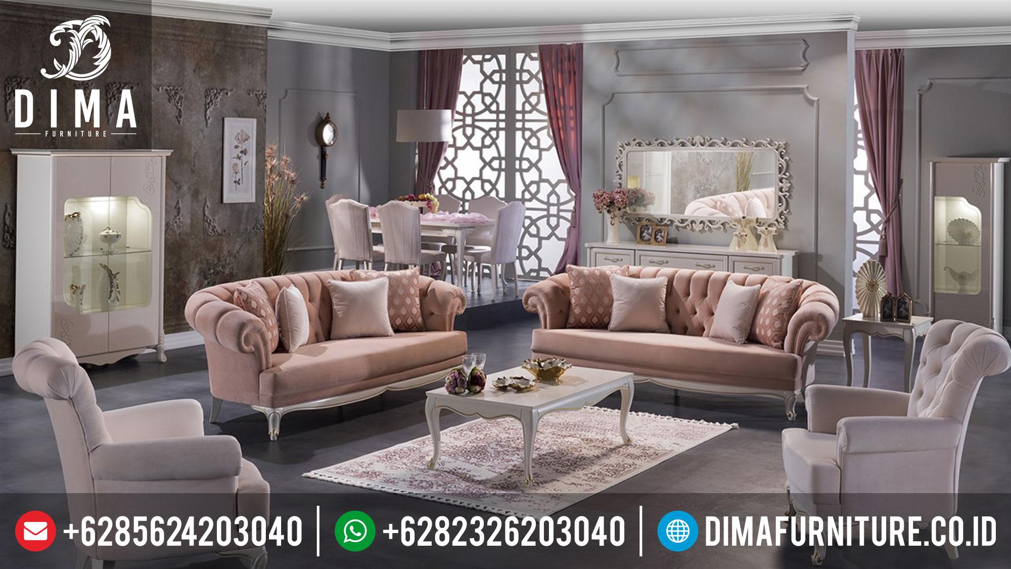 Jual 1 Set Sofa Tamu Minimalis Mewah Terbaru Jepara Lisbon ST-0380