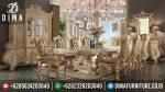 Meja Makan Terbaru Set Mewah Klasik Mebel Jepara 8 Kursi ST-0352