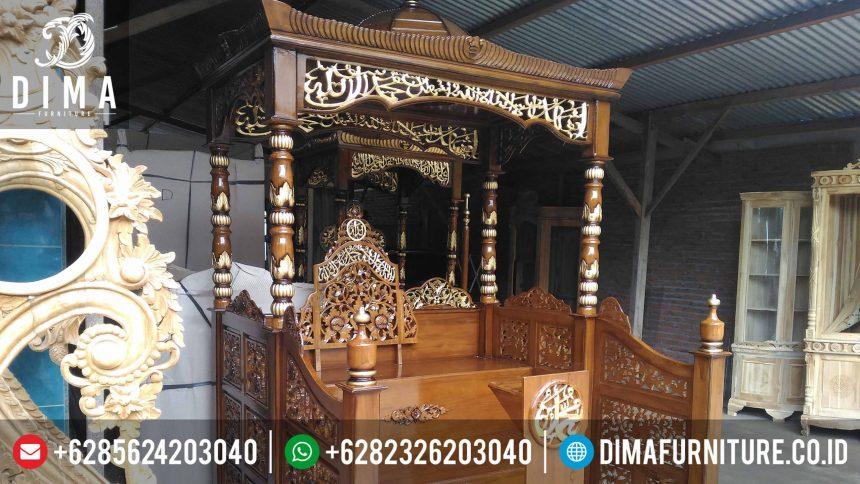 Mimbar Jati Jepara Terbaru, Mimbar Masjid Jati Murah, Mimbar Masjid Kayu Jati ST-0360