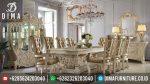 Set Meja Makan Terbaru Mewah Ukiran Mebel Jepara Klasik Awesome ST-0353