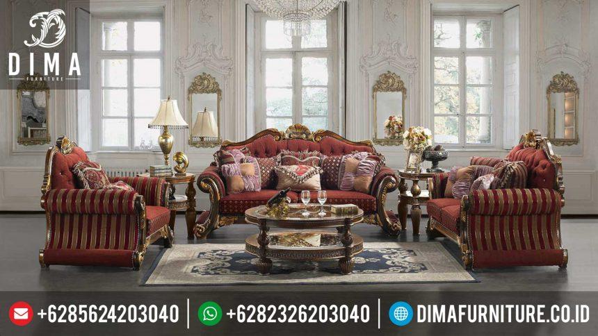 Sofa Tamu Jepara Mewah Set Terbaru Jati Ukiran Minimalis ST-0355