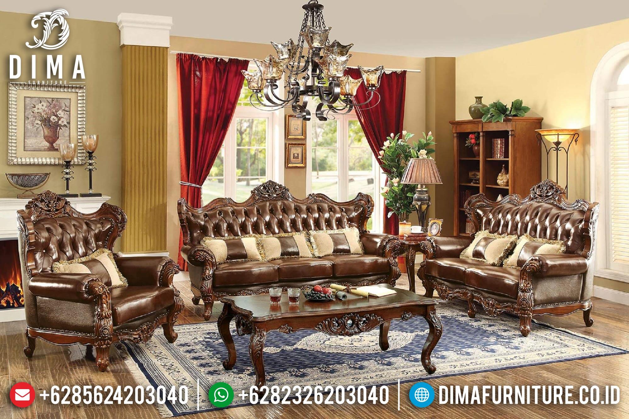 Sofa Kursi Tamu Jepara Mewah Jati Terbaru Jeriko ST-0393