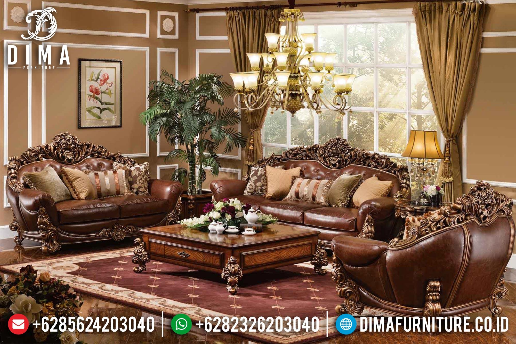 Sofa Tamu Mewah Jati Jepara Terbaru Model Brunello ST-0392