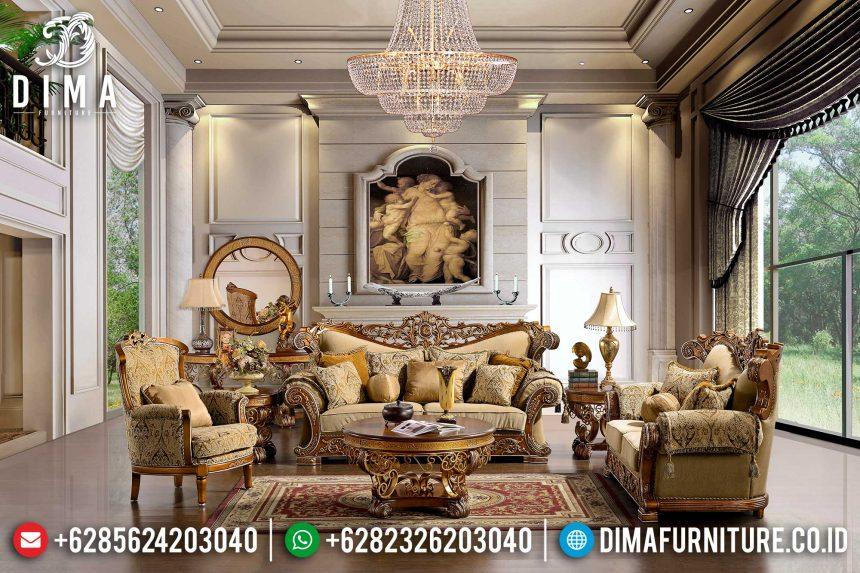Sofa Tamu Mewah Klasik Jati Jepara ST-0394