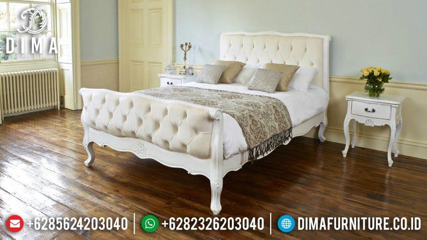Tempat Tidur Minimalis Mewah, Kamar Set Putih, Dipan Jepara Terbaru ST-0397