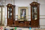 Buffet TV Jati Ukiran Jepara Terbaru Mewah Calleret ST-0418