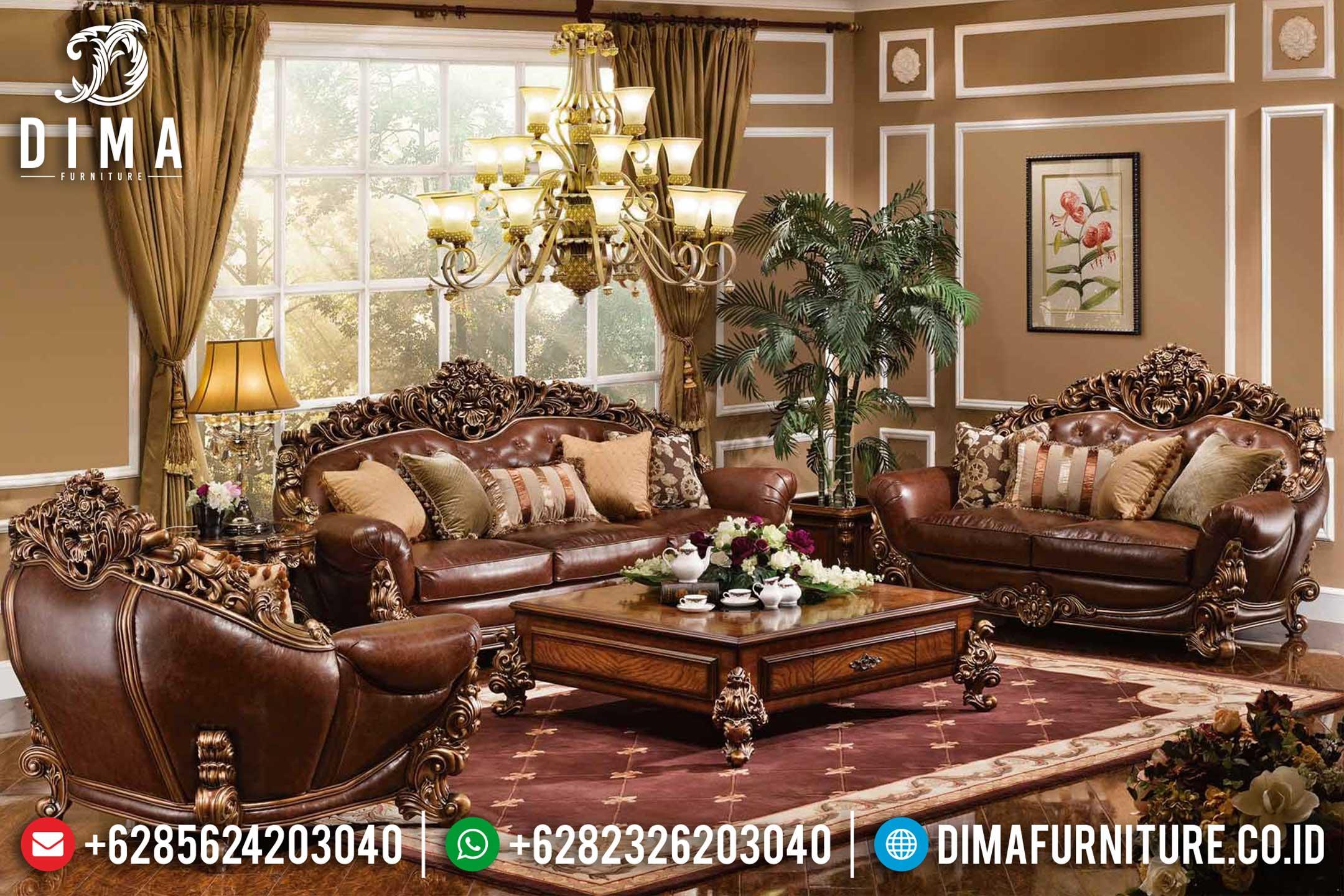 Jual Mebel Jepara Kursi Sofa Tamu Mewah Ukiran Terbaru ST-0408