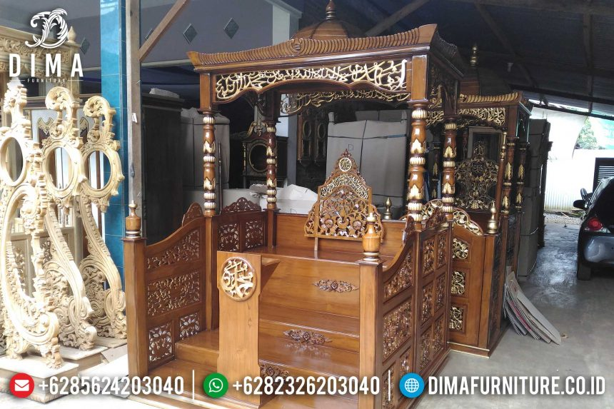 Jual Mimbar Masjid Jati Ukiran Jepara Terbaru Harga Murah ST-0412