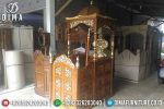 Mimbar Masjid Jati Jepara Model Ukiran Terbaru Harga Murah ST-0413