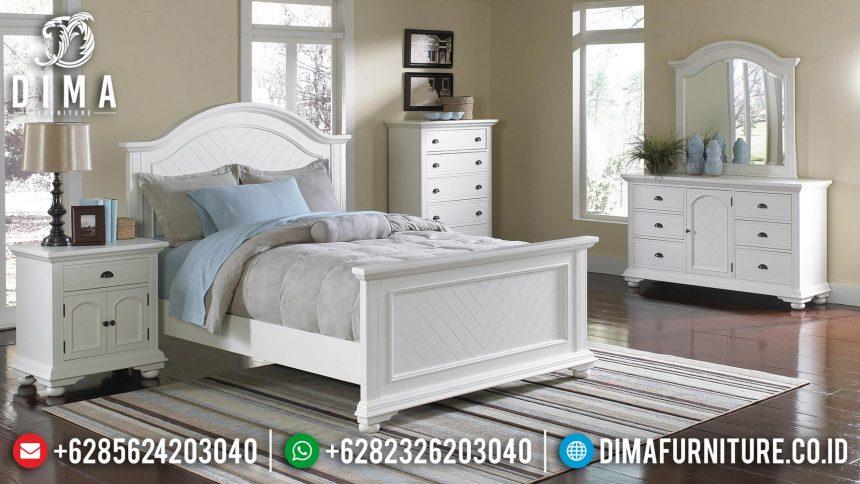 Kamar Set Minimalis Jepara Full Putih Duco Terbaru Mewah ST-0434