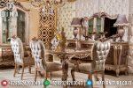 Meja Makan Jepara Set Mewah Terbaru Royal Koltuk ST-0438