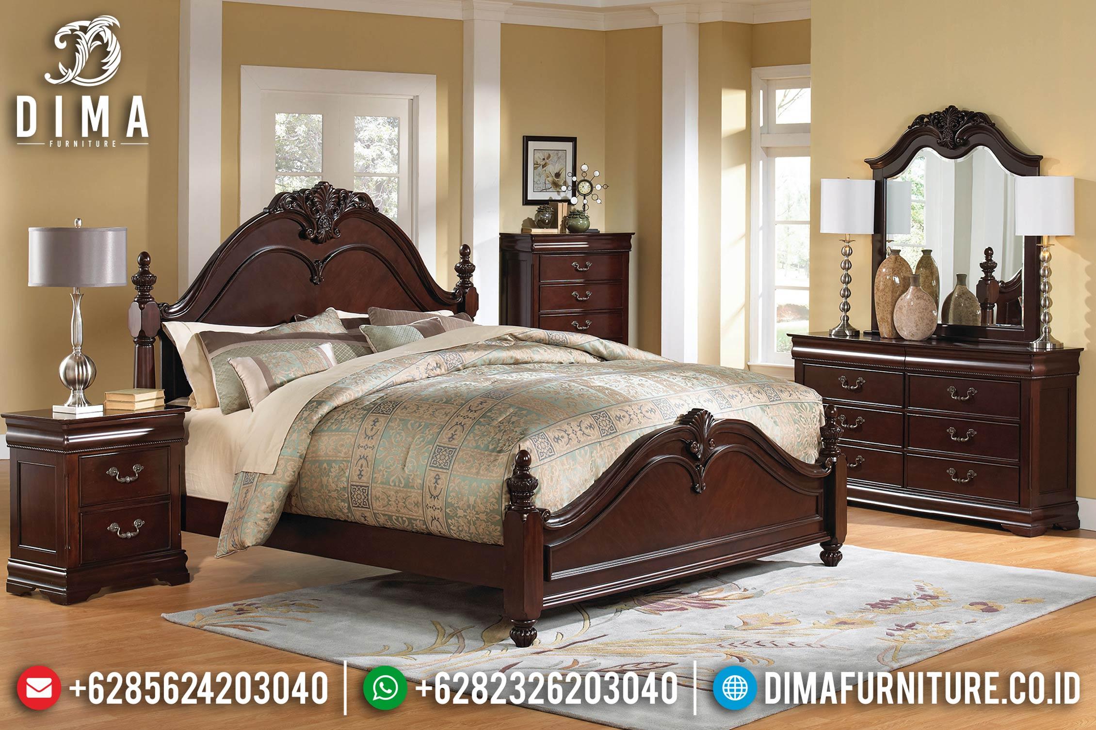 Set Kamar Tidur Minimalis Jati Jepara Mewah Terbaru Luxury ST-0422