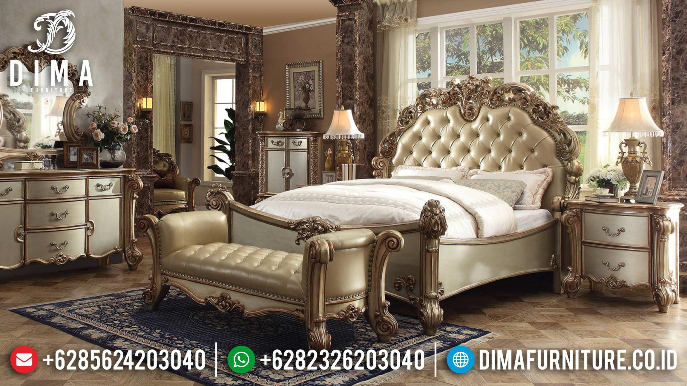Set Kamar Tidur Pengantin Jepara, Kamar Set Mewah Terbaru, Set Tempat Tidur Ukiran Klasik ST-0428