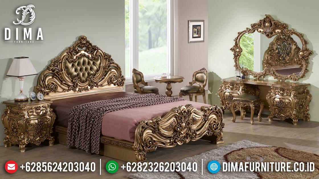 Kamar Set Mewah Jepara Luxury Full Ukiran Klasik Duco Emas Terbaru ST-0461