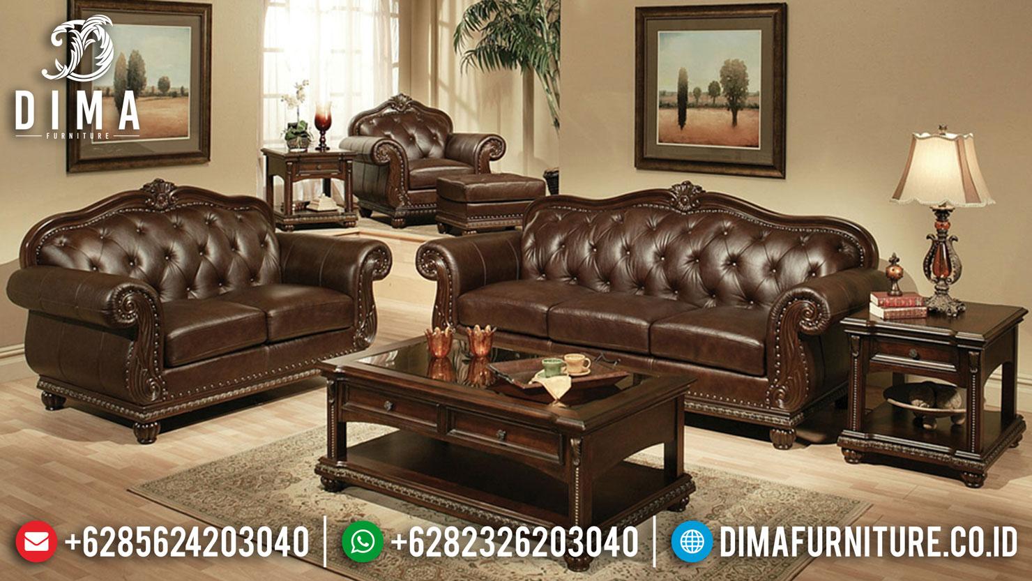 Kursi Sofa Ruang Tamu Mewah Terbaru Ukiran Jepara Klasik ST-0444