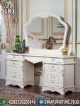 Meja Rias Mewah Jepara Terbaru Cat Duco Putih Set Kamar Pengantin ST-0479