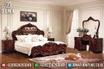 ST-0469 Kamar Set Jati Ukir Jepara, Set Tempat Tidur Klasik Mewah, Set Kamar Tidur Mewah Pengantin