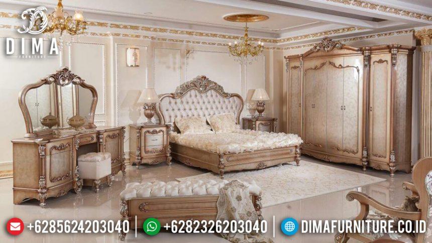 Set Kamar Tidur Mewah Ukiran Jepara Klasik Terbaru Luxury Duco Emas ST-0474