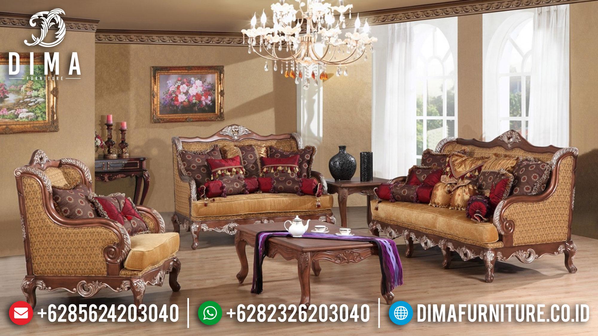 Set Kursi Sofa Tamu Jepara Ukiran Klasik Mewah Jati ST-0445