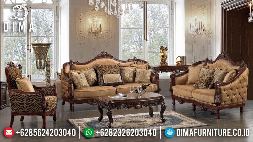 Set Kursi Sofa Tamu Mewah Jepara Terbaru Natural Finish ST-0442