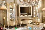 Bufet TV Jepara Mewah Duco, Set Bufet TV lemari Hias Mewah, Mebel Jepara Terbaru ST-0493