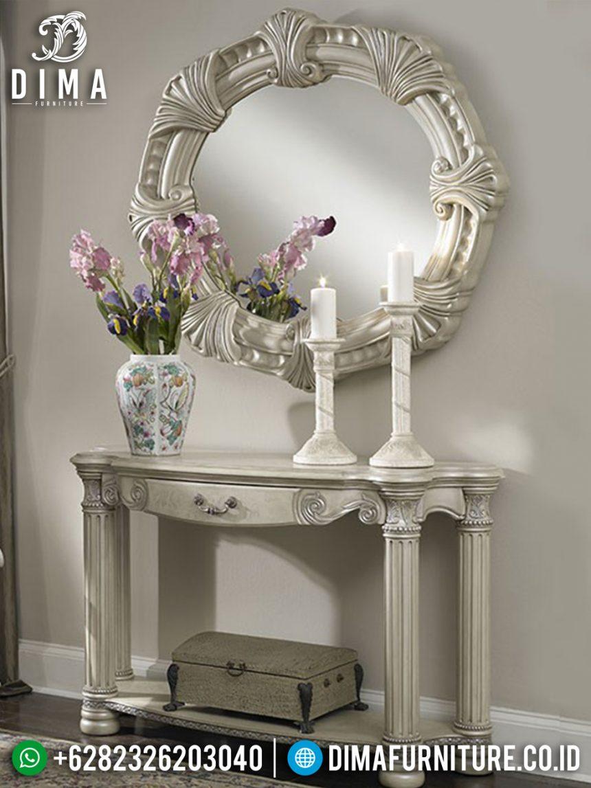 Meja Konsol Mewah Terbaru, Meja Hias Ukiran Jepara, Cermin Hias Ruang Tamu ST-0498