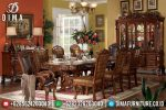 Set Meja Makan Mewah Jati Jepara Terbaru Ukiran Classic Luxury ST-0487