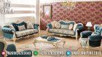 Sofa Tamu Jepara Mewah Terbaru Seri Firuz Duco Putih Emas Terbaru ST-0485