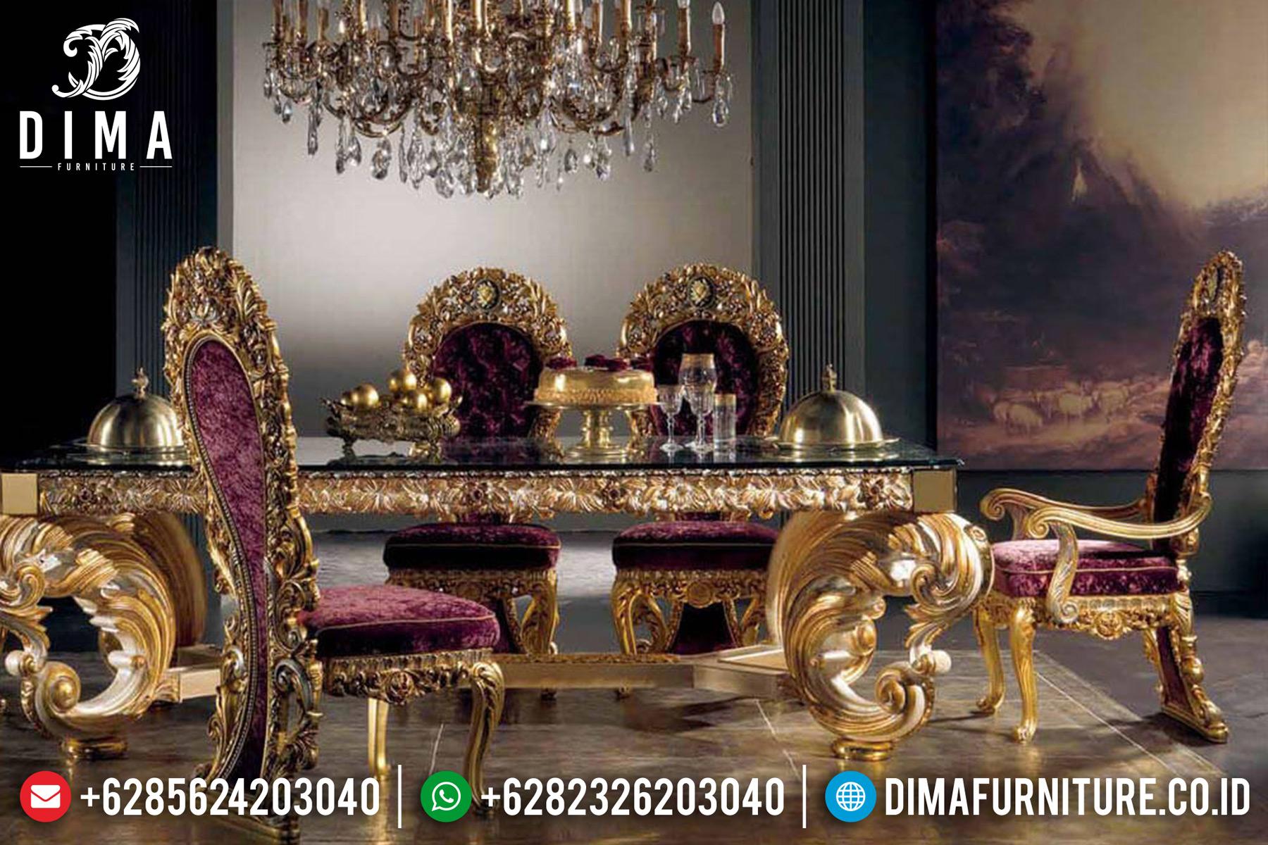 Kursi Meja Makan Mewah Jepara Ukiran Klasik European Style Gold ST-0499 Gambar 1