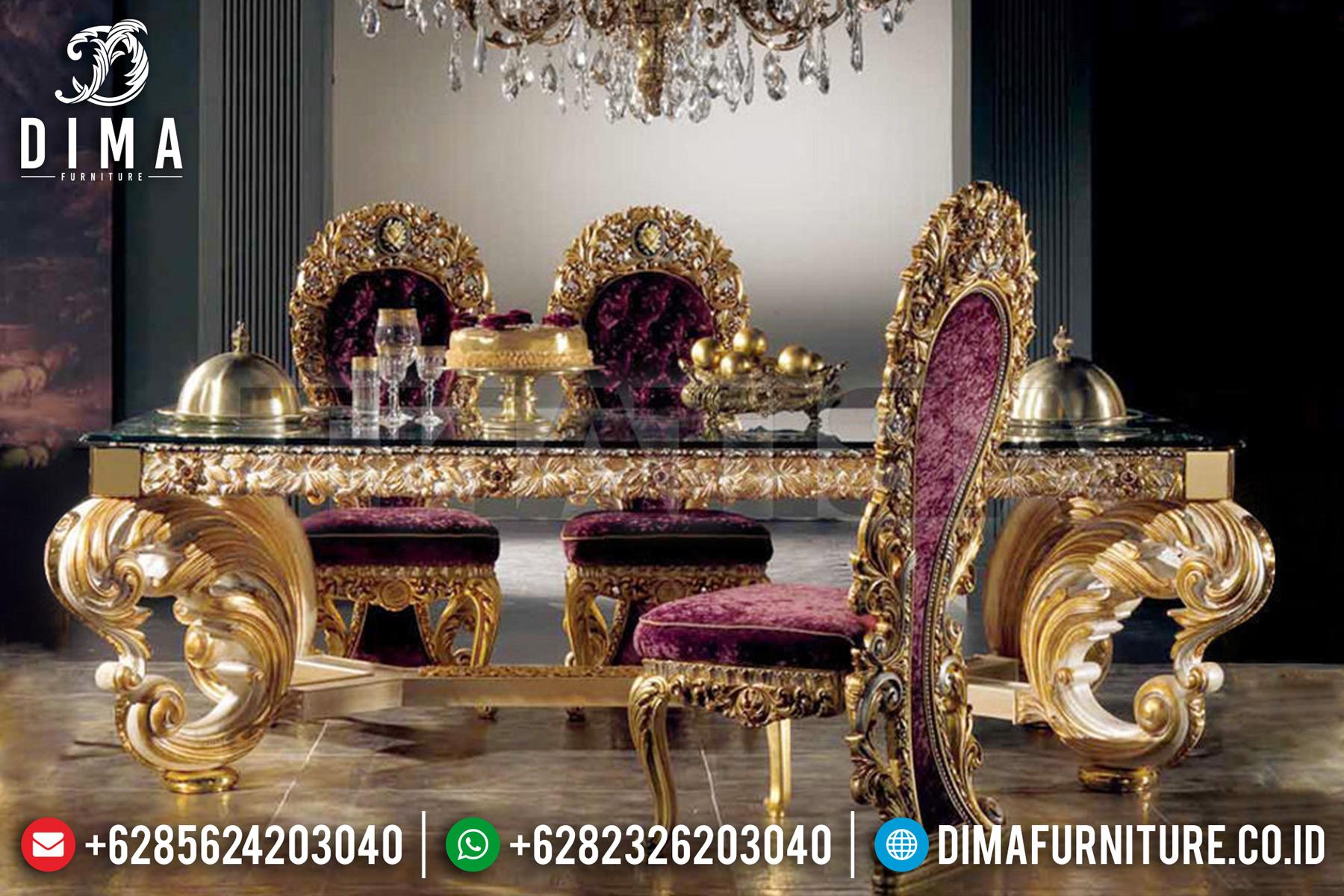 Kursi Meja Makan Mewah Jepara Ukiran Klasik European Style Gold ST-0499 Gambar 2