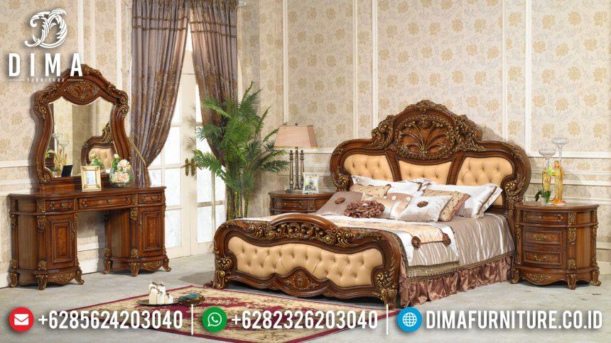 Furniture Set Kamar Tidur Mewah Ukiran Klasik Jepara Terbaru Murah ST-0511