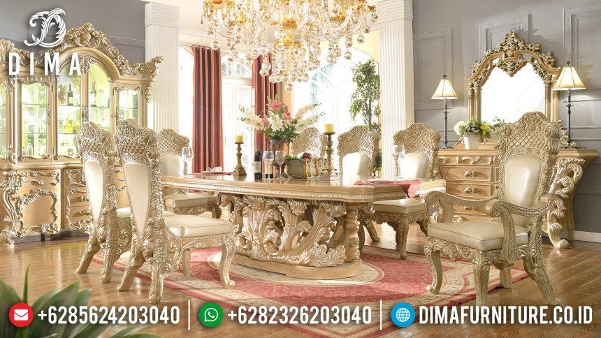 Furniture Terbaru Meja Makan Mewah Jepara Ukiran Klasik Gaya Eropa ST-0519