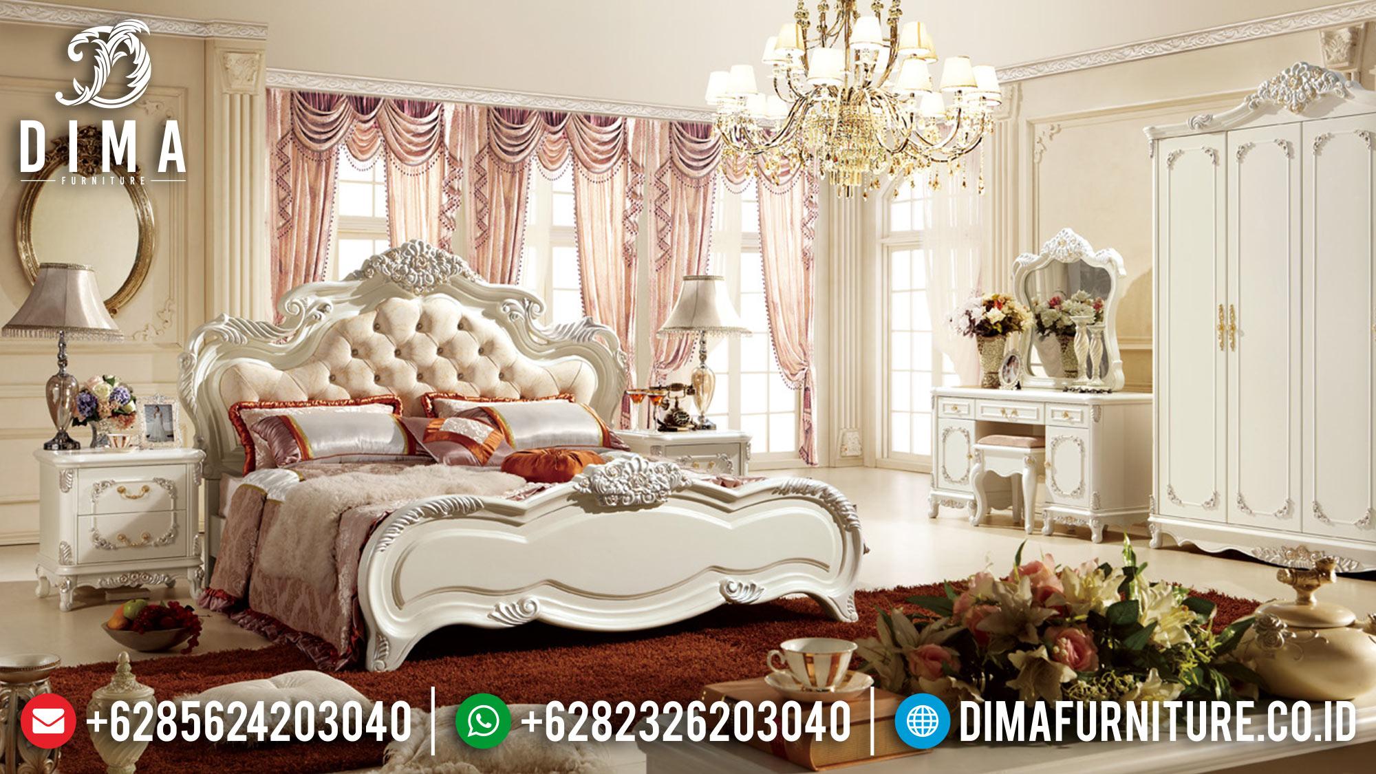 Kamar Set Mewah Jepara Ukiran Klasik Terbaru Duco Ivory ST-0509