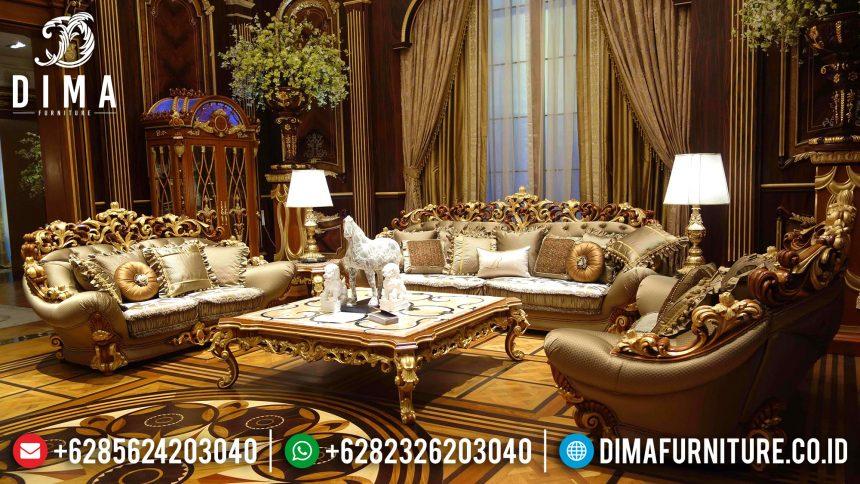 Sofa Tamu Mewah Jepara Ukiran Klasik Luxury European Style Leroyal ST-0518