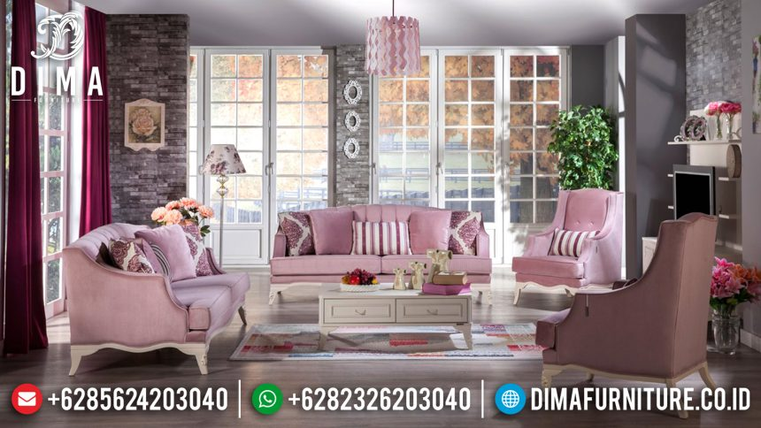 Kursi Sofa Tamu Minimalis Jepara Mewah Romance Full Covers Terbaru ST-0526