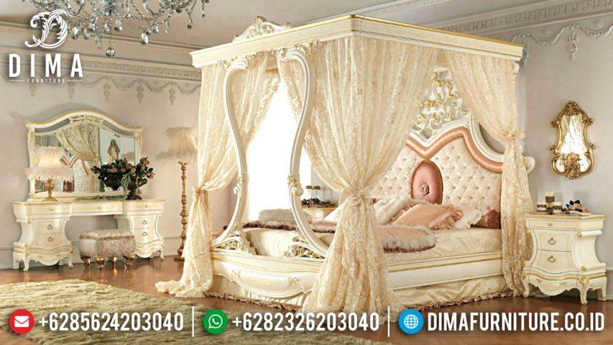 Set Kamar Tidur Mewah, Kamar Set Jepara, Tempat Tidur Kanopi Mewah ST-0529