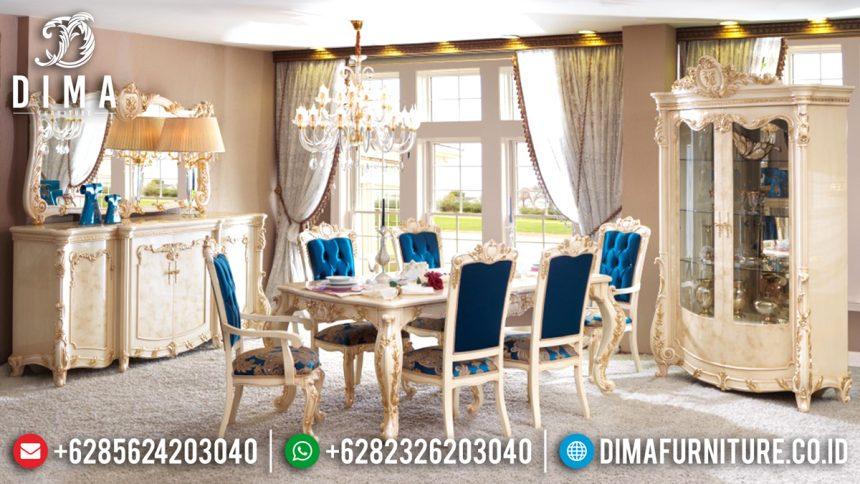 Set Kursi Meja Makan Mewah, Meja Makan Jepara, Mebel Terbaru Jepara ST-0533