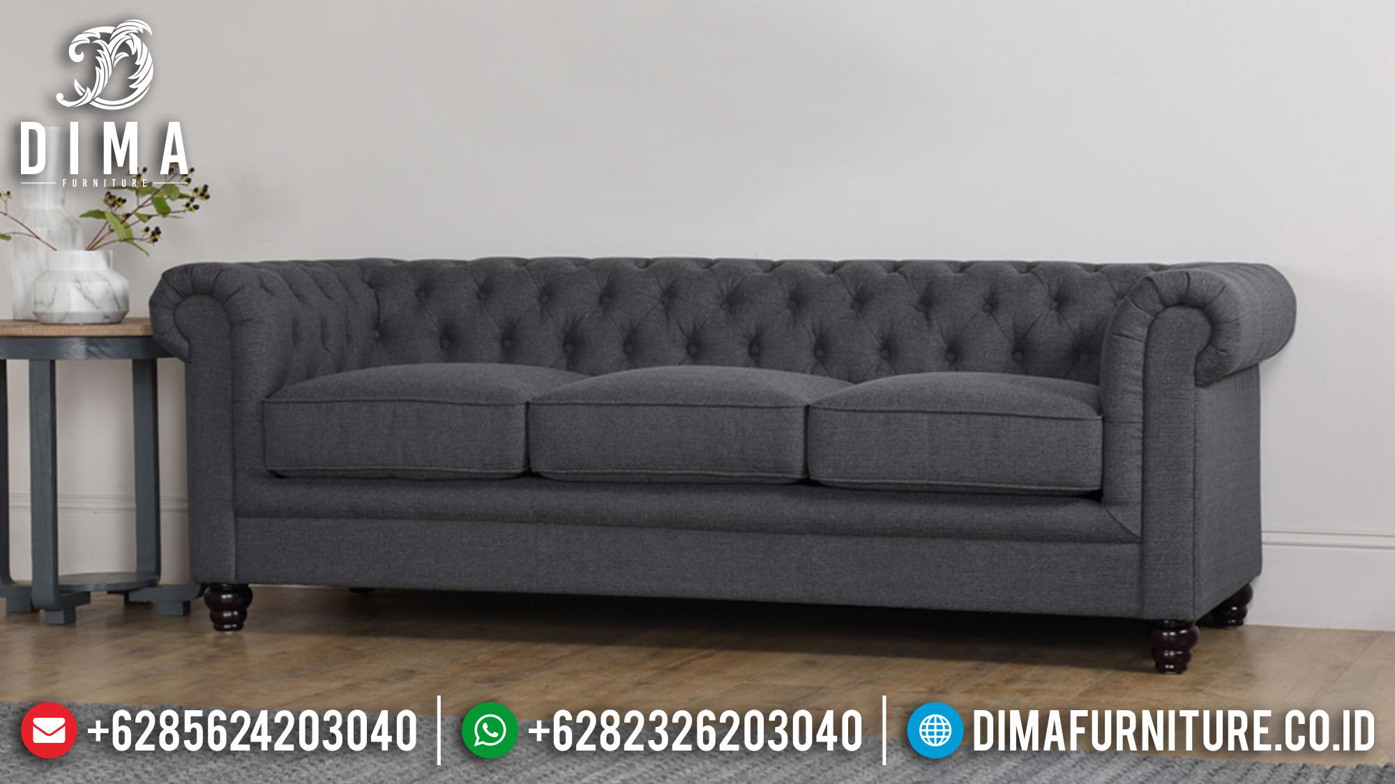 Set Sofa Tamu Minimalis Mewah Jepara Fabric Canvas Terbaru 2018 ST-0525 Gambar 1