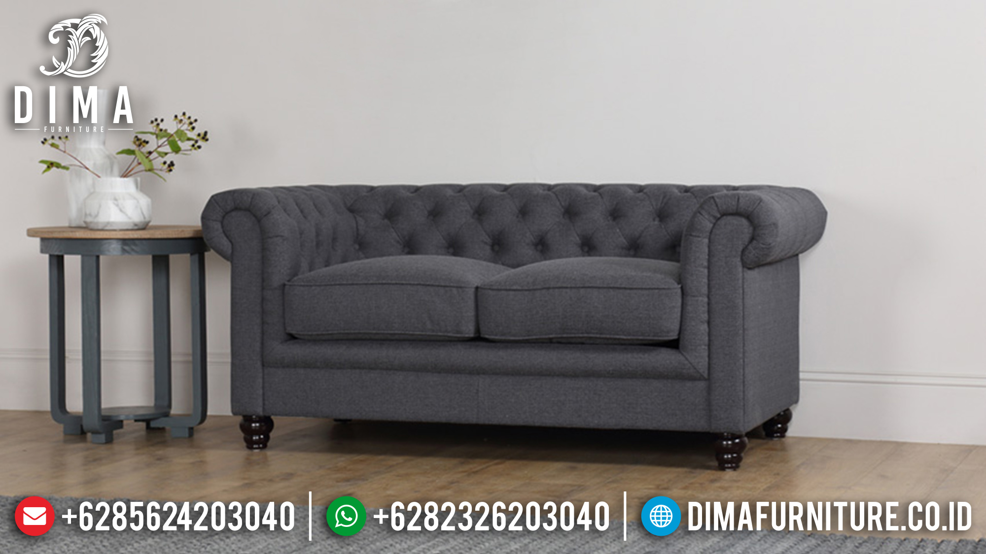 Set Sofa Tamu Minimalis Mewah Jepara Fabric Canvas Terbaru 2018 ST-0525 Gambar 2
