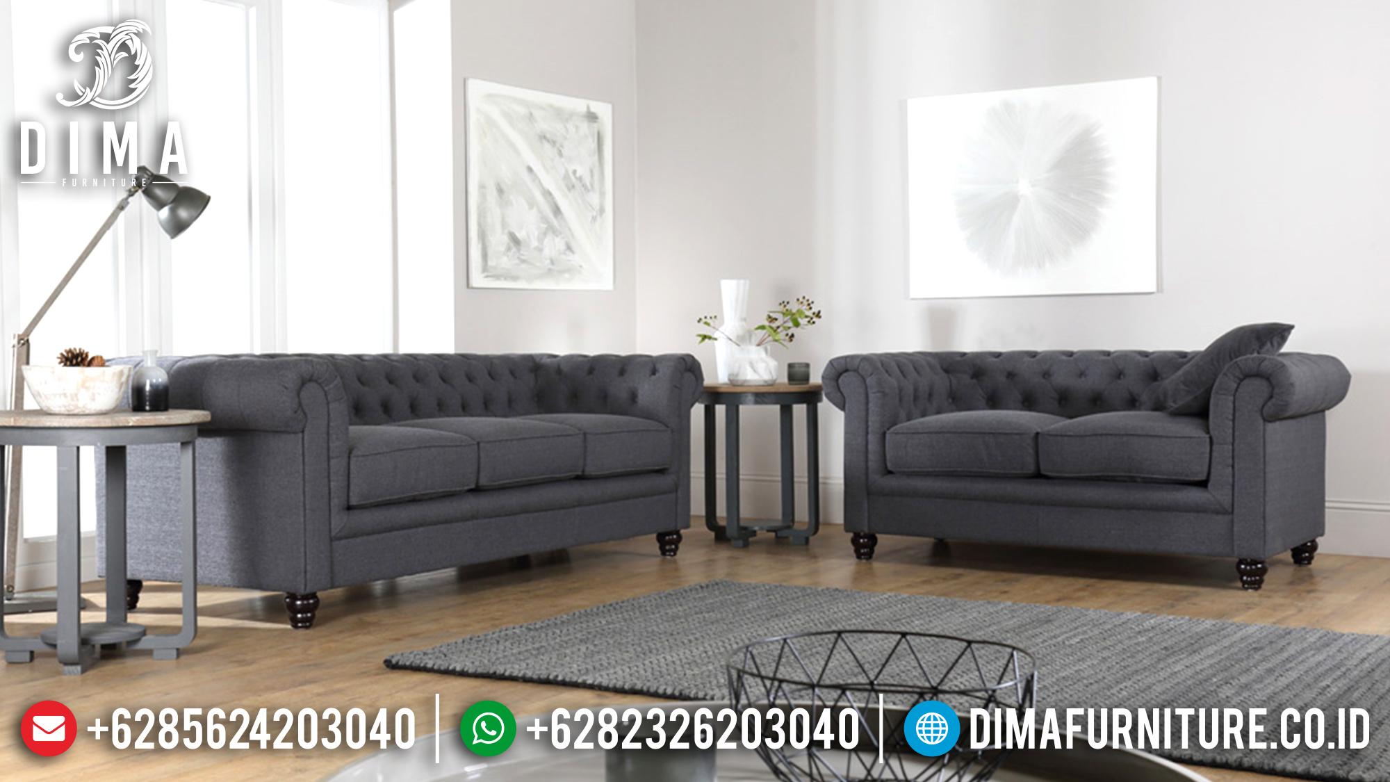 Set Sofa Tamu Minimalis Mewah Jepara Fabric Canvas Terbaru 2018 ST-0525