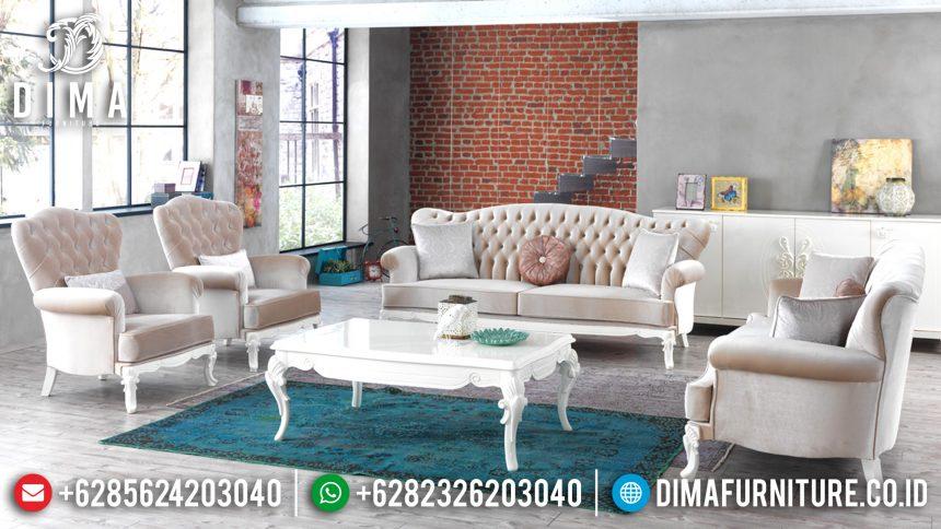 Sofa Tamu Minimalis Jepara Terbaru Full Cover Mewah Orlando ST-0523