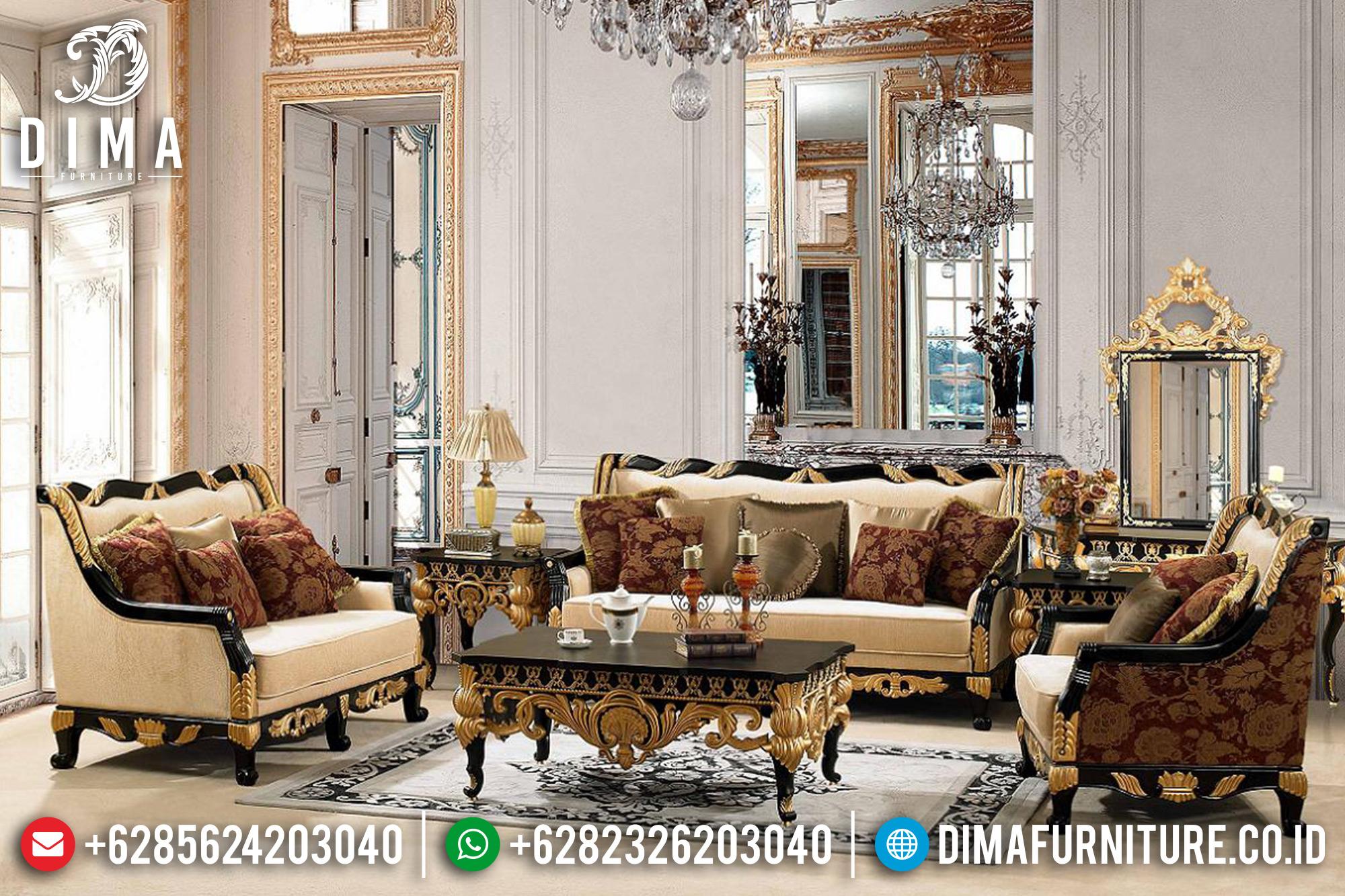 Furniture Jepara Set Sofa Tamu Mewah Jepara Natural Gold Jasco ST-0541