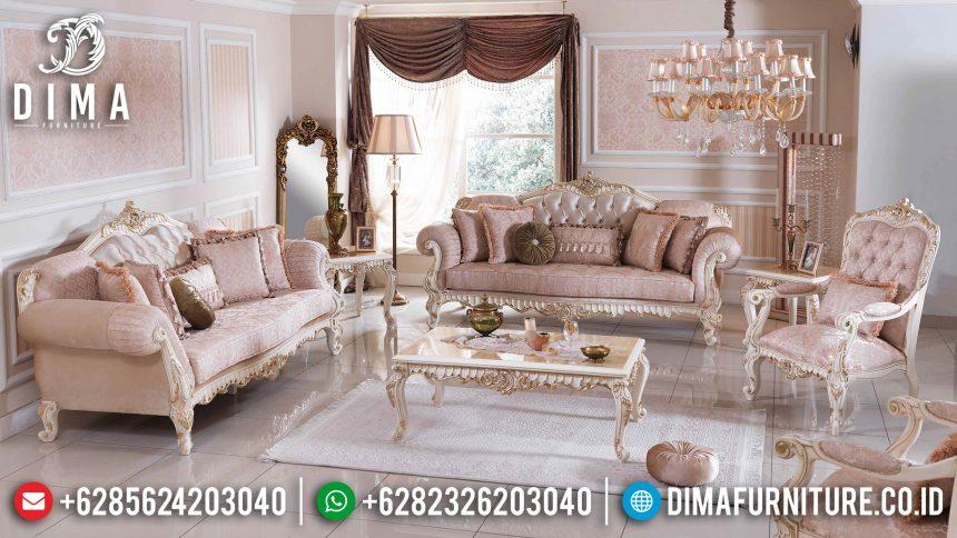Set Sofa Tamu Mewah Aulala Model Terbaru Mebel Jepara Klasik ST-0544