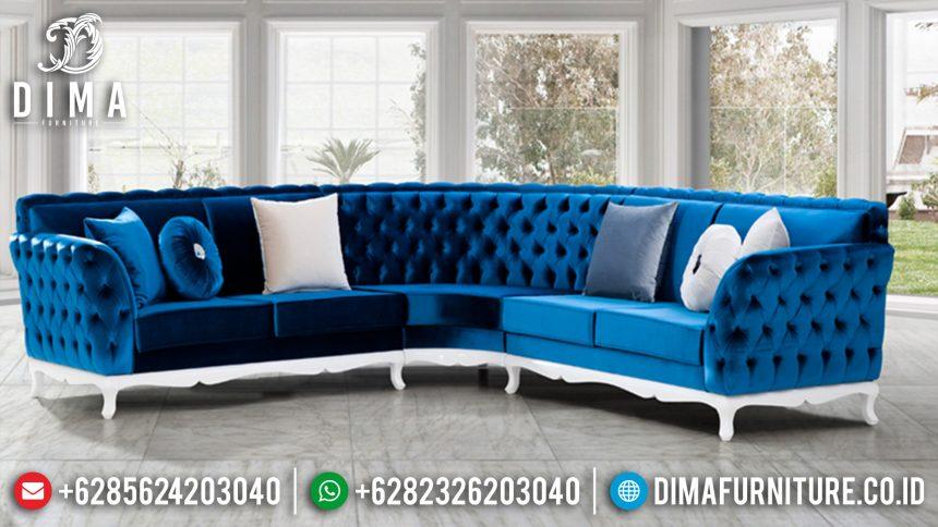 Set Sofa Tamu Mewah Jepara Sudut L Minimalis Terbaru Bluelux ST-0546