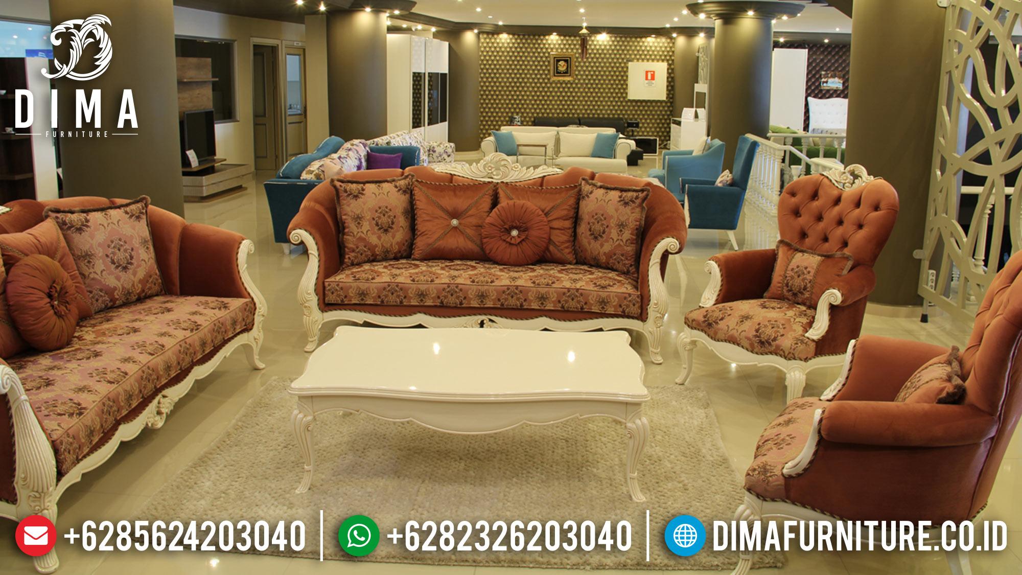 Set Sofa Tamu Jepara Mewah Model Terbaru Duco Putih Yukselis ST-0552