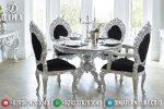 Set Meja Makan Mewah Jepara Minerva Klasik Rococo ST-0556
